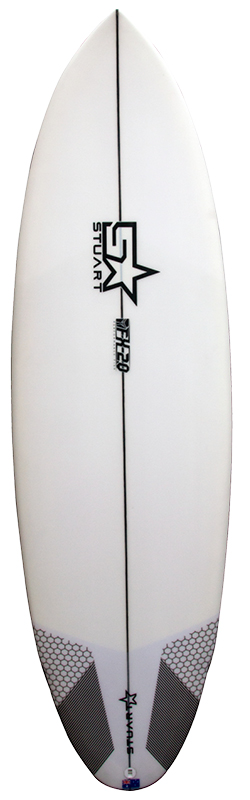 stuart surfboards fx 2 front white