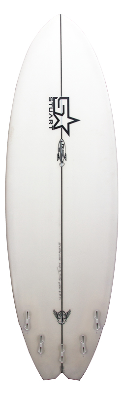 stuart surfboards fx rocket back white