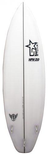 stuart surfboards hpx 2 back white