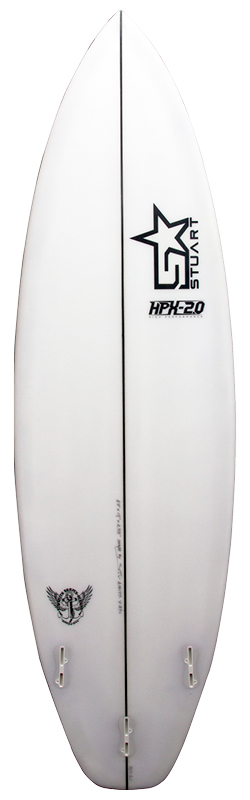 stuart surfboards hpx 2 back white