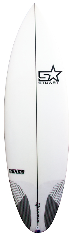surfboards gold coast bender mini gun front white