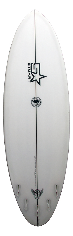 surfboards gold coast jolly roger back white