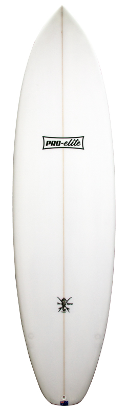 surfboards gold coast pro elite funboard front white